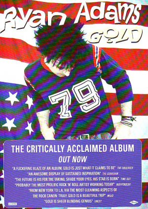 Ryan Adams Gold rare genuine vintage advert 2001