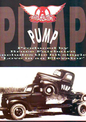 Aerosmith Pump rare genuine vintage advert 1989