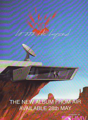 Air 10,000 Hz Legend rare vintage advert 2001