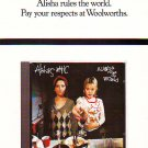 Alisha's Attic - Alisha Rules The World rare vintage advert 1996