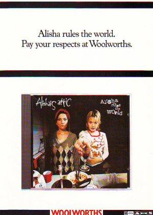 Alisha's Attic - Alisha Rules The World rare vintage advert 1996
