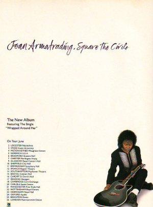 Joan Armatrading - Square To Circle rare vintage advert 1992