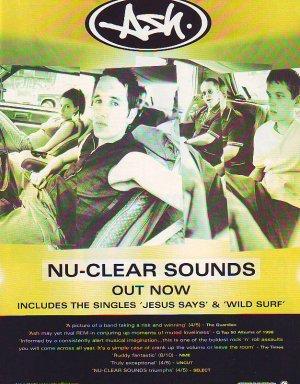 Ash - Nu-Clear Sounds rare vintage advert 1998