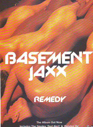 Basement Jaxx - Remedy rare vintage advert 1999
