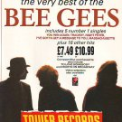 Bee Gees - Very Best Of - rare vintage advert 1990