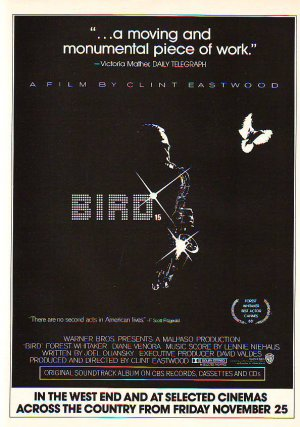 Bird - Clint Eastwood / Forest Whitaker - rare vintage advert 1988