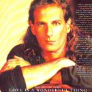 Michael Bolton - Time Love And Tenderness - rare vintage advert 1991