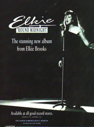 Elkie Brooks - 'Round Midnight - rare vintage advert 1993