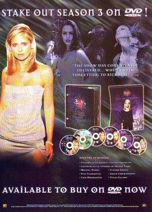Buffy The Vampire Slayer - Season 3 - rare vintage advert