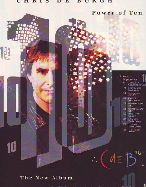 Chris De Burgh - Power of Ten - rare vintage advert 1992