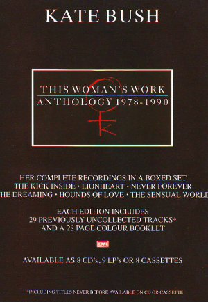 Kate Bush - This Woman's Work - rare vintage advert 1990