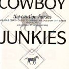 Cowboy Junkies - The Caution Horses - rare vintage advert 1990