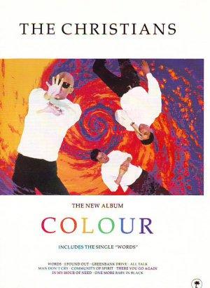 The Christians - Colour - rare vintage advert 1990