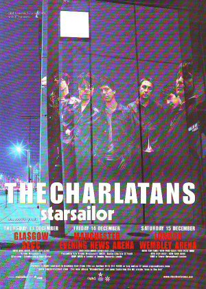The Charlatans / Starsailor UK Tour - rare vintage advert 2001