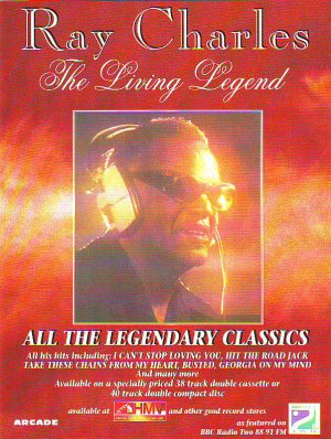 Ray Charles - The Living Legend - rare vintage advert