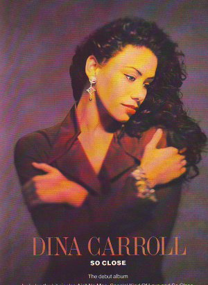 Dina Carroll - So Close - rare vintage advert 1993