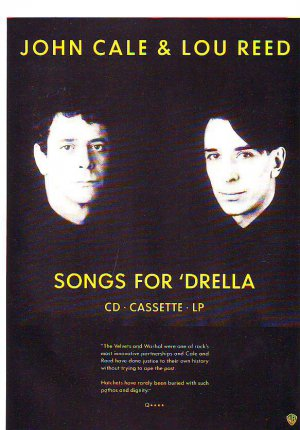 John Cale & Lou Reed - Songs For Drella - rare vintage advert 1990