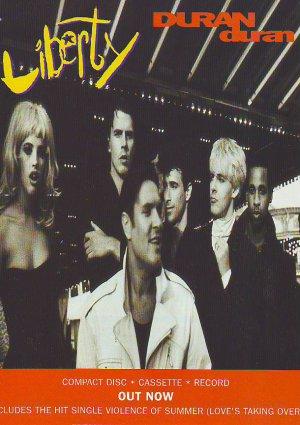 Duran Duran - Liberty - rare vintage advert 1990