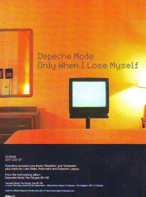 Depeche Mode - Only When I Lose Myself - rare vintage advert 1998