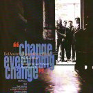 Del Amitri - Change Eveything - rare vintage advert 1992