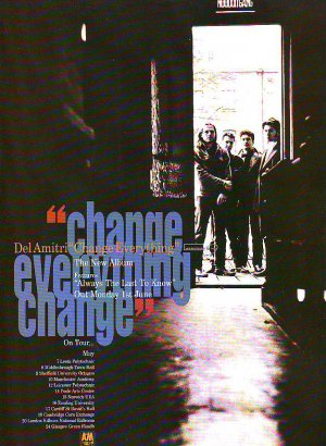 Del Amitri - Change Eveything - rare vintage advert 1992