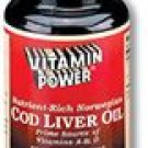 Finest-Grade, Norwegian Cod Liver Oil Softgel Capsules--100 Ct  (#302R)