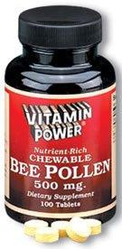 Chewable Bee Pollen 500 mg Tabs--250 Ct  (#1079U)