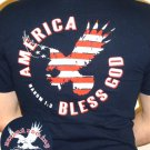 M - God Bless America - Back Decal