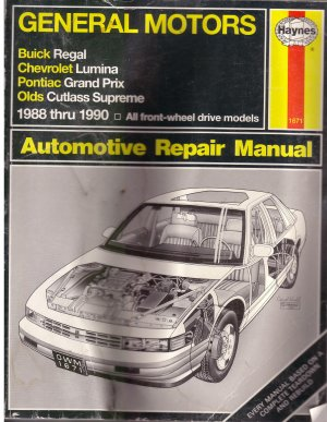 General Motors 1988 - 1990 Automotive Repair Manual