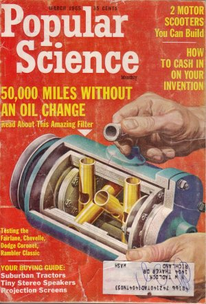 Popular Science Magazine -- March 1965