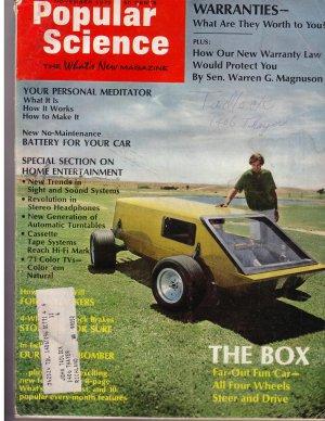 Popular Science Magazine -- November 1970