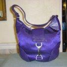 Dark purple hobo purse