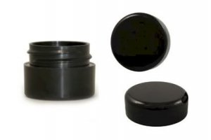 BLACK LIP BALM JAR - 10 PACK