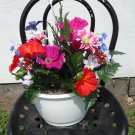 Handmade Artificial Flower Hanging Basket style no. 1