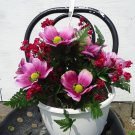 Handmade Artificial Flower Hanging Basket style no. 4