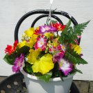 Handmade Artificial Flower Hanging Basket style no. 5