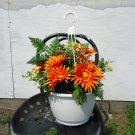 Handmade Artificial Flower Hanging Basket style no. 9