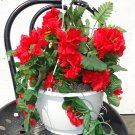 Handmade Artificial Flower Hanging Basket style no. 10