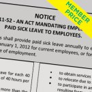 Compliance Poster: Paid Sick Leave [member price]