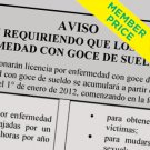 Compliance Poster: Paid Sick Leave (Spanish) [member price]
