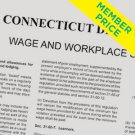 Compliance Poster: CT Minimum Wage and Overtime [member price]