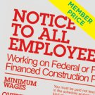 Compliance Poster: Employees Working on Federally Financed Construction Projects [member price]