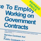 Compliance Poster: Employees Working on Government Contracts [member price]