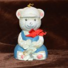 Baseball cap Bear Christmas Ornament Ceramic Bell GiftCo Inc