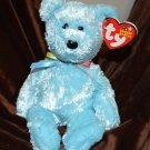 Beanie Baby Pale Blue  Bear Sherbet - 2000 Tush Tag 2002 Swing Tag