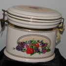 * Knot's Berry Farm Strawberry Fruit Oval Ceramic Canister w Gasket sealed lid