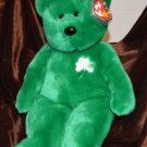 "Ty Beanie Buddy Buddie Bear Erin - 15"" Bear Shamrock Green Color"