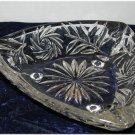 Beveled Cut Glass Ash Trays Cigarette Cigar Styling