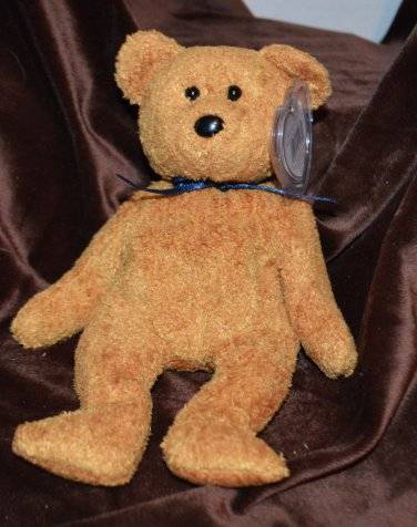 Ty Beanie Baby Fuzzy Brown Bear Fuzz tush tag no # swing tag 1998