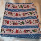 Pigs 'n Purses Blue polka Dot & Pink Stripe Hears and Flower Cotton Blend Fabric